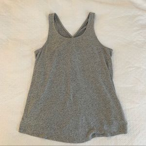 Gilligan & O'Malley Soft Gray Sleeveless Top